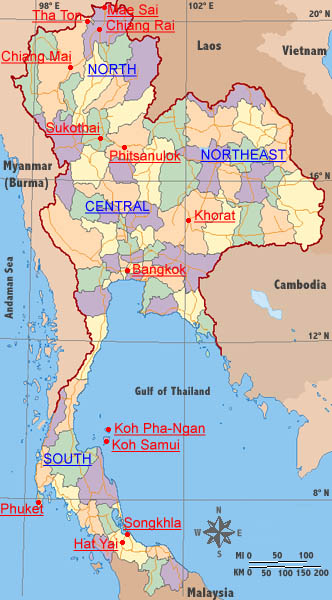 thai-language.com - Travel Map